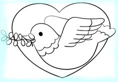 imagenes de paloma de la paz Peace Crafts, Remembrance Day Art, Harmony Day, Pattern Coloring Pages, Sketchbook Drawings, China Painting, World Peace, School Projects, Pet Birds