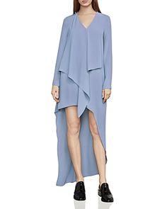 Bcbgmaxazria Women's Asymmetric Drape V-Neck Dress - Chambray Ash - Xsmall Necklines For Dresses, Curvy Women Fashion, Boutique, Asymmetrical Dress, V Neck Dress, Editorial Fashion, High Low, Fashion Outfits, Women's Fashion