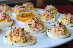 Crab deviled eggs. Out of all the recipes I looked thru this was the only one with old bay and the picture looked most appetizing!