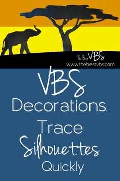Create an easy, large VBS decoration using silhouettes. Great for Roar VBS, In the Wild VBS, Hero Central VBS, and many others. Get tips and tricks to consider before beginning your tracing process. Safari Crafts, Jungle Crafts, Vbs Crafts, Safari Decorations, School Decorations, School Themes, Christmas Decorations, Hero Central Vbs, Vbs Themes