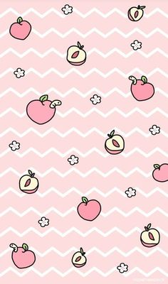 Peach, wallpaper, and kawaii image Peach Wallpaper, Cute Pastel Wallpaper, Cute Patterns Wallpaper, Kawaii Wallpaper, Wallpaper Iphone Cute, Aesthetic Iphone Wallpaper, Wallpaper Wallpapers, Kawaii Background, Art Background