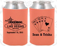 Las Vegas Wedding Favors, Personalized Favors, Just Married Gifts, Playing Cards, Las Vegas Sign, Koozies (53)