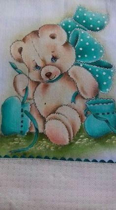 Tole Painting, Fabric Painting, Bear Pictures, Cute Pictures, Baby Elephant Drawing, Cute Teddy Bears, Doll Face, Cute Wallpapers, Diy And Crafts
