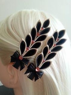 Kanzashi kukka -hiusklipsi