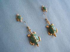 Gift Idea Tropical Jewelry Turtle Earrings by DesignsByMaral