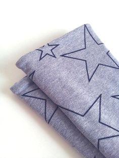 Armstulpen - Armstulpen STERN grau Stulpen Fleece Sweat - ein Designerstück von…