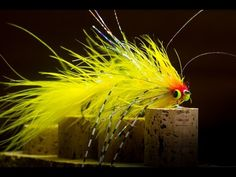 Yellow Monster Bugger - articulated streamer fly tying - YouTube