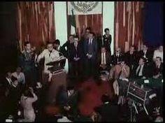 Presidente Allende en su clase magistral en la Universidad de Guadalajara de Mexico