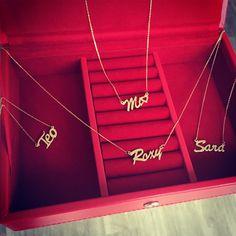 Name necklace #handmade #solidgold #namenecklace #Ingriko