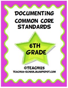 Middle School & High School teachers: Documentation packets are made by request.  This 6th grade Language Arts packet is now available at my TPT store.
