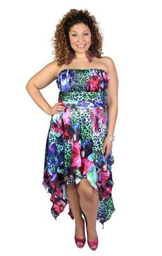 plus size mixed animal print charmeuse tendril dress  WANNTTT for homecoming!!!!