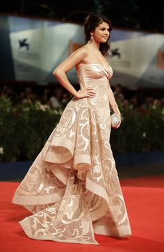 Lovely red carpet gown.