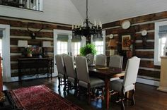 """"""" Modern mouse condo!"""" A Rustic, Stress-free Mountain Home in Mentone, Alabama - traditional - dining room - birmingham - by Corynne Pless"""