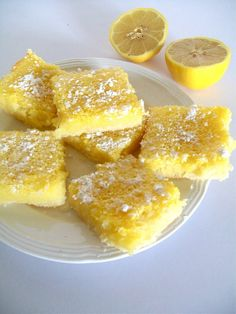 Gluten-free Vegan Lemon Bars