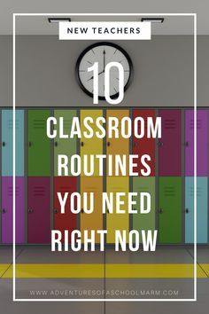 Classroom routines and procedures are essential for a successful classroom. They help your classroom run efficiently so you can maximize student learning. Check out these 10 procedures that you may have overlooked! // Adventures of a Schoolmarm