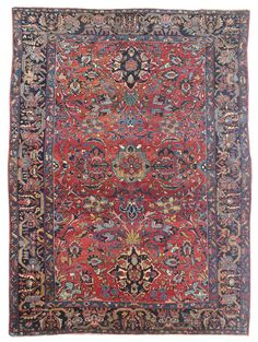 Antique Sarouk Rugs Gallery: Antique Lilihan Rug, Hand-knotted in Persia; size: 7 feet 2 inch(es) x 9 feet 9 inch(es)