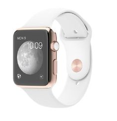 Apple Gold Edition 42 mm 18K Rose Gold Case White Sport Band