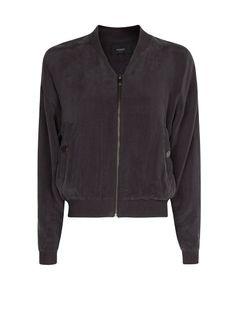 MANGO - Cupro bomber jacket....LIKE THIS!