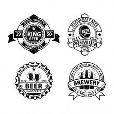 Set of vintage brewery badges Premium Vector Free Vector Illustration, City Illustration, Retro Background, Background Patterns, Memphis Pattern, How To Age Paper, Memphis Design, Vintage Iron, Wedding Card Design