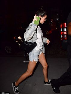 Legs eleven: Kendall Jenner took things down a notch as she departed the…