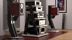 Audio rooms speaker stands Mono and Stereo High-End Audio Magazine: JTL Audio ultimate speaker stand (fb) end Audio room Entertainment Hifi Stand, Audio Stand, Speaker Stands, Audiophile Speakers, Hifi Audio, Stereo Speakers, Room Speakers, Audio Room, High End Speakers