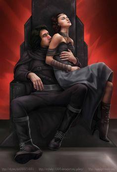 Kylo Ren/Ben Solo and Rey. Reylo