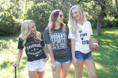 Support your team with one of our sports tee's