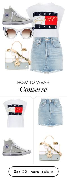 """""""Untitled #4287"""" by dkfashion-658 on Polyvore featuring Tommy Hilfiger, Converse, Thierry Lasry and Giancarlo Petriglia"""