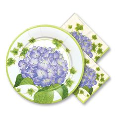 Decorative Paper Napkins | ... these classic paper plates and napkins in a hydrangea pattern