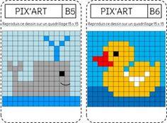 MODELES: Pixel art reproduction figure (de la GS au CE2)