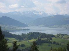 Blick auf den Sihlsee im Kanton Schwyz,Largest artificial lake of Switzerland