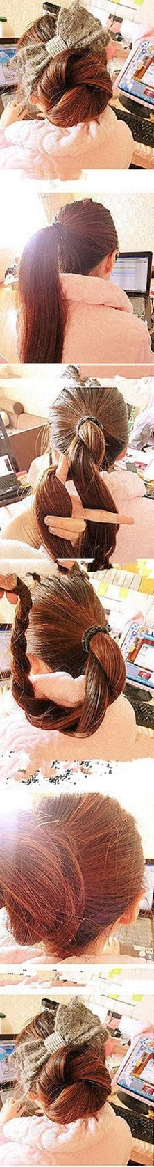 Twisted Hair Bun