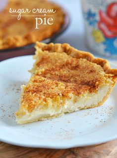 Sugar Cream Pie is sweet and creamy and is accented with the rich flavors of vanilla and nutmeg. Its the perfect fall pie, and it is so easy to make!