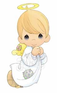 precious moments images clipart | Precious Moments Angels Clip Art & Coloring Pages