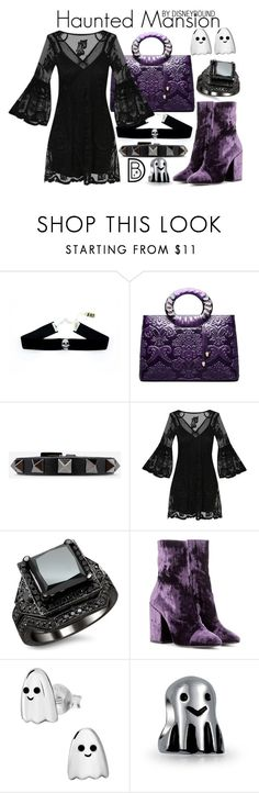 """Haunted Mansion"" by leslieakay ❤ liked on Polyvore featuring Handle, Valentino, Dries Van Noten, Bling Jewelry, disney, disneybound and disneycharacter"