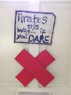 Pirate party door hanging
