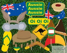 Instant Download Australia Day Photo Booth by InkOrchardPrintables, $5.95