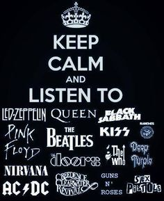 Love this......personally I would replace the doors with the foo fighters and sabbath with tom petty