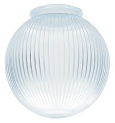 This clear prismatic globes harmonizes with almost any decor thanks to a classic, versatile design. The prismatic glass features longitudinal ridges and filters bright light. Because it's style is so adaptable, the globe are great to have on hand at all times for quickly replacing worn or broken glassware in any room. Use it in kitchens, bathrooms, living rooms, and bedrooms. Includes: Clear prismatic globe. FEATURES - Clear prismatic glass - Globe shape RECOMMENDED USES - Use as replacement…