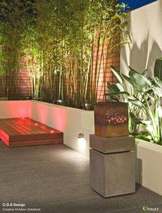 Bamboo. Garden Lighting