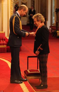 This is for you: It was a proud moment for Rod as the second in line to the throne awarded him his medal