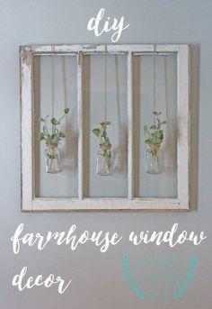 Love this old window decor
