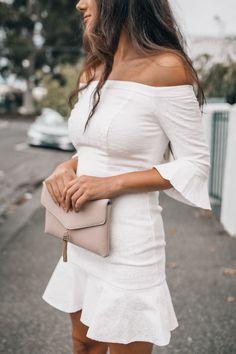 White Bardot Mini Dress | Sunday Chapter