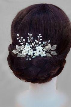 Hair Tiara,kurora me rruza,lule per frizura,kurora te nuseve ,me rruza pune dore me rruza