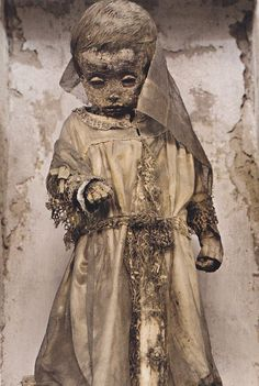 A child mummy from the Palermo Catacombs.