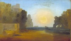 turner paintings tate | Joseph Mallord William Turner, 'Italian Bay' c.1827-8