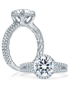 A. Jaffe Spilt Shank Round Halo Engagement Ring I Style: ME1861Q I https://www.theknot.com/fashion/me1861q-ajaffe-engagement-ring?utm_source=pinterest.com&utm_medium=social&utm_content=june2016&utm_campaign=beauty-fashion&utm_simplereach=?sr_share=pinterest
