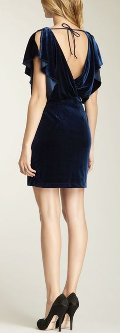 @roressclothes clothing ideas #women fashion blue little dress