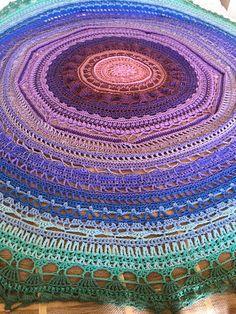 Ravelry: Mega Mandala Blanket pattern by Hannah Cross