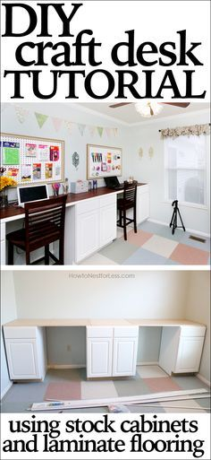 I'm building something like this for my craft room so I can play, but also so my kids have a place to spread out and do homework with creative materials within easy reach